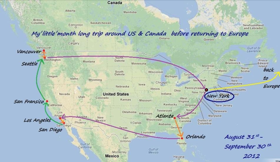 Backpacking in North America - GA, FL, CA, BC